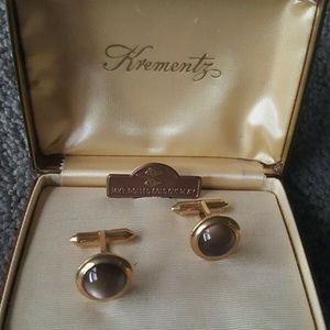VINTAGE KREMENTZ CUFF LINKS ELEGANT FORMAL WEAR CU